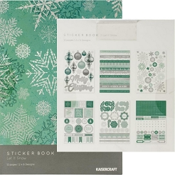 KaiserCraft - Let It Snow Collection - Sticker Book (foiled)