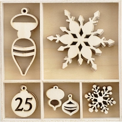 KaiserCraft - Let It Snow Collection - Let It Snow Wooden Shapes