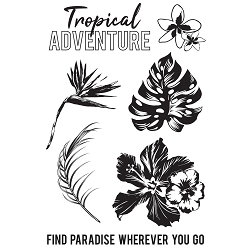 KaiserCraft - Paradise Found Collection - Clear Stamp