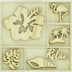 KaiserCraft - Paradise Found Collection - Relax Wooden Shapes