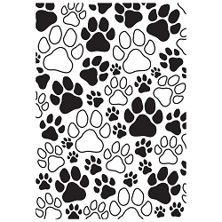 KaiserCraft - Embossing Folder - Paw Prints (4x6)
