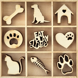 KaiserCraft - Pawfect Collection - Pets Wooden Shapes