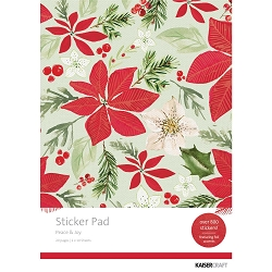 KaiserCraft - Peace and Joy Collection - Sticker Pad (with foil accents)