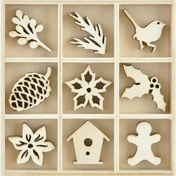KaiserCraft - Peace and Joy Collection - Festive Foliage Wooden Shapes