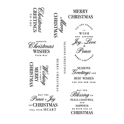 KaiserCraft - Christmas Greetings Clear Stamp