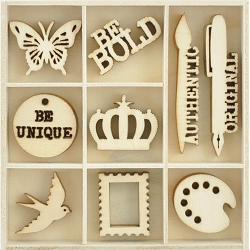 KaiserCraft - Scrap Studio Collection - Artist Wooden Shapes