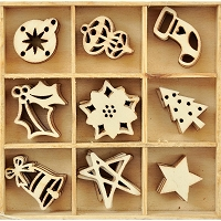 KaiserCraft - Silent Night Collection - Festive Wooden Shapes