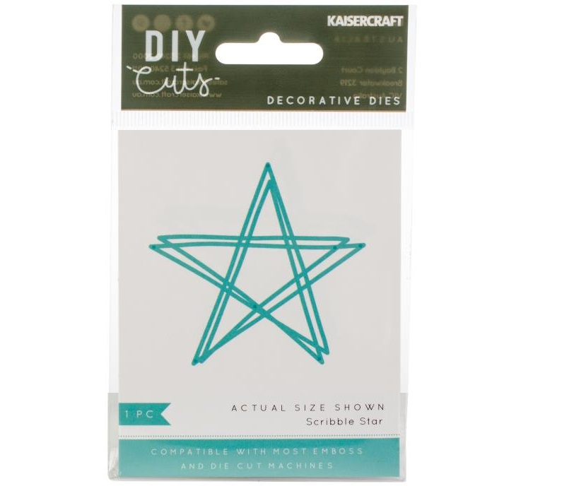 KaiserCraft - Decorative Dies - Scribble Star