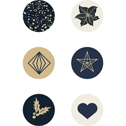 KaiserCraft - Starry Night Collection - Curios (Glass Pebbles)