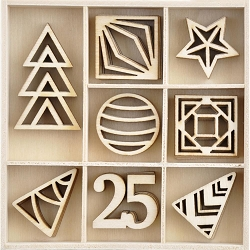 KaiserCraft - Starry Night Collection - Starry Night Wooden Shapes