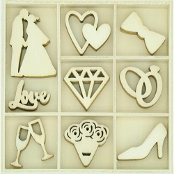 KaiserCraft - Two Souls Collection - Forever & Always Wooden Shapes