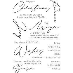 KaiserCraft - Christmas Wishes - Clear Stamp