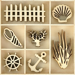 KaiserCraft - Beach Shack Collection - Beach Wooden Shapes