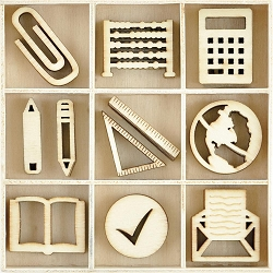 KaiserCraft - Documented Collection - Classroom Lucky Dip Wooden Shapes
