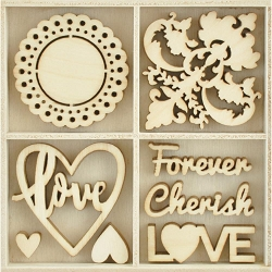 KaiserCraft - Everlasting Collection - Be Mine Wooden Shapes