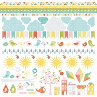 KaiserCraft - Fine & Sunny Collection - Sunshine Sticker Sheet