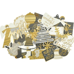 KaiserCraft - First Noel Collection - Collectables Die Cuts (gold foiled)