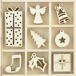 KaiserCraft - First Noel Collection - Ornaments Wooden Shapes
