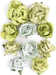 Kaiser-Paper Blooms Dimensional flowers-Olive