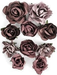 Kaiser-Paper Blooms Dimensional flowers-Aubergine