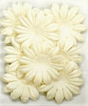 Kaiser-Large Flat Paper Flowers-White