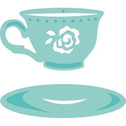 KaiserCraft - Decorative Dies - Cup & Saucer