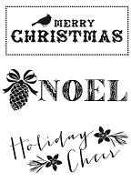 Kaiser Craft - Holly Bright Collection - Clear Stamps - Noel :)