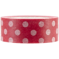 Kaiser - Printed Paper Tape - Red Polka Dot