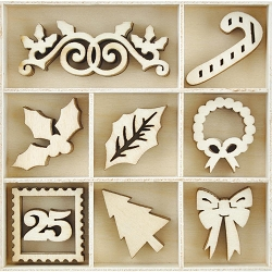 KaiserCraft - Letters to Santa Collection - Dear Santa Dip Wooden Shapes