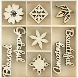 KaiserCraft - Memory Lane Collection - Beautiful Wooden Shapes
