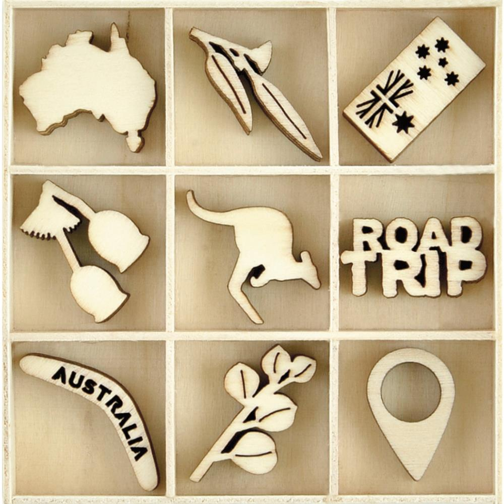 KaiserCraft - Open Road Collection - Australiana Lucky Dip Wooden Shapes