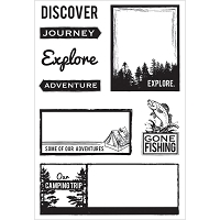 Kaiser Craft - Outdoor Trail Collection - Clear Stamp set