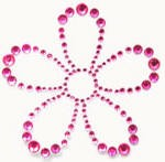 Kaiser-Rhinestone Picture-Flower-Hot Pink