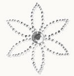 Kaiser-Rhinestone Picture-Petal-Silver