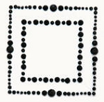 Kaiser-Rhinestone Picture-Square-Black