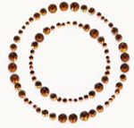 Kaiser-Rhinestone Picture-Circle-Copper