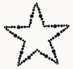 Kaiser-Rhinestone Picture-Star-Black