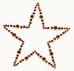 Kaiser-Rhinestone Picture-Star-Copper