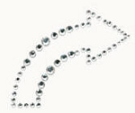 Kaiser-Rhinestone Picture-Curved Arrow-Silver