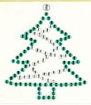 Kaiser-Rhinestone-Picture-Christmas Tree-Colored