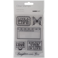 Kaiser - Rustic Harmony Collection - Clear Stamp