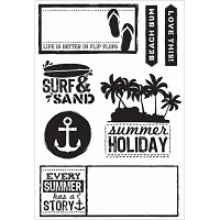 KaiserCraft - Sandy Toes Collection - Clear Stamp