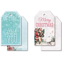 KaiserCraft - Silver Bells Collection - Tags w/ String