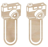 Kaiser Craft - Wood Flourish - Camera Clips