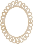 Kaiser Craft - Wood Embellishments - Oval Lace Frame