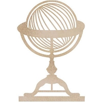 KaiserCraft - Wood Flourishes - Globe