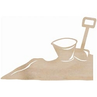 Kaiser Craft - Wood Flourish - Bucket and Spade