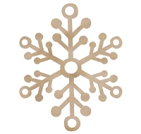 Kaiser - Wood Flourish - Large Snowflake