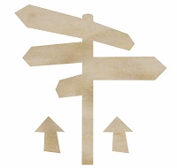 KaiserCraft - Wood Flourishes - Sign Post