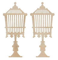Kaiser Craft - Wood Flourish - Standing Birdcage